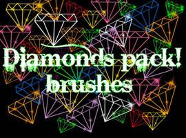 gimp diamonds brushes pack by JessiCOREx