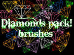 gimp diamonds brushes pack