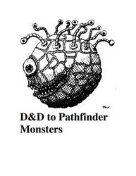 DnD to Pathfinder Monsters