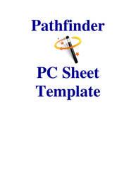 Pathfinder PC Sheet Template