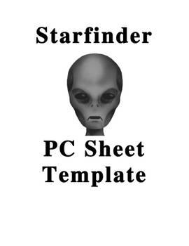 Starfinder PC Sheet Template