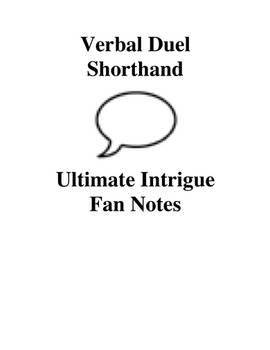 Verbal Duel Shorthand