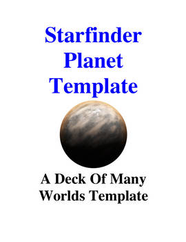Starfinder Planet Template
