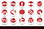 Red Blops Social Media Icons