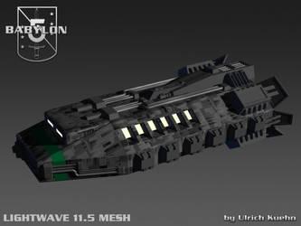 BABYLON 5 - EA-SHUTTLE 3D-Mesh by ulimann644