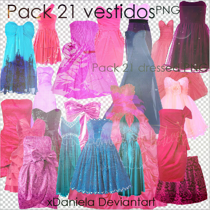 Pack Vestidos Png Dress.zip by xDaniela