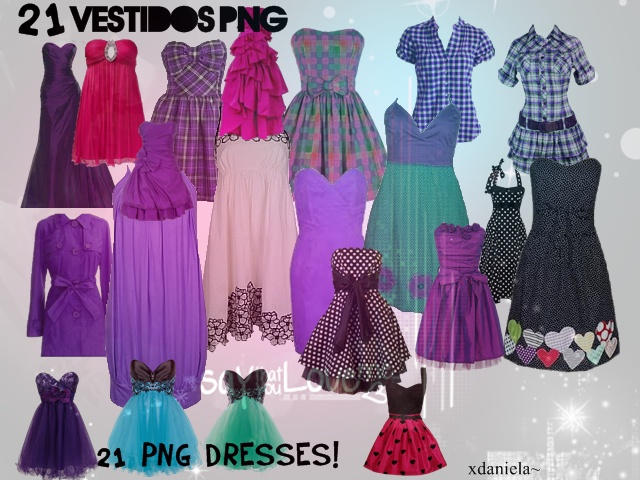 Pack Vestidos Png Dress 2 by xDaniela