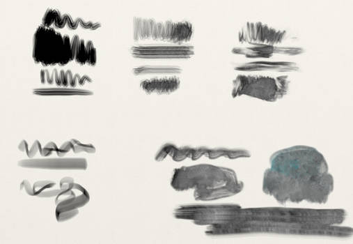 Bristle and ink brush presets for Artrage 5
