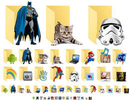 Windows 10 - 16 Custom Folder Icons by Tastentier