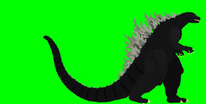 Godzilla walkcycle greenscreen
