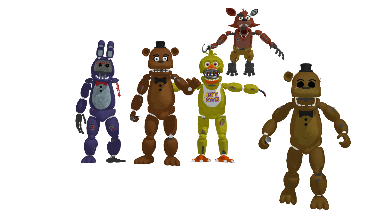 Mmd fnaf 2 withered pack dl relocated by oscarthechinchilla on