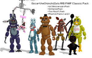 MMD- FNAF Classic Pack (DL) by OscartheChinchilla