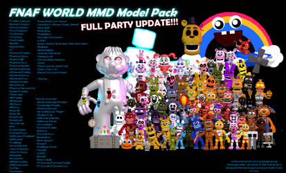 MMD- FNaF World Pack (FULL PARTY UPDATE) (DL) by OscartheChinchilla