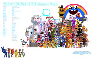 MMD- FNaF World Pack (DL)