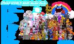 MMD- FNaF World Pack (FULL PARTY UPDATE) (DL)