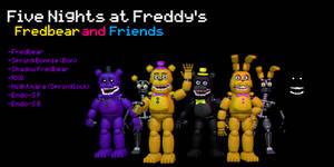 MMD- Fredbear and Friends Pack (DL) by OscartheChinchilla