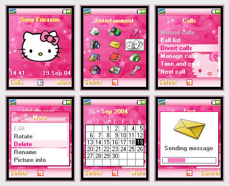 Pink Hello Kitty Phone Theme by orgiast1k
