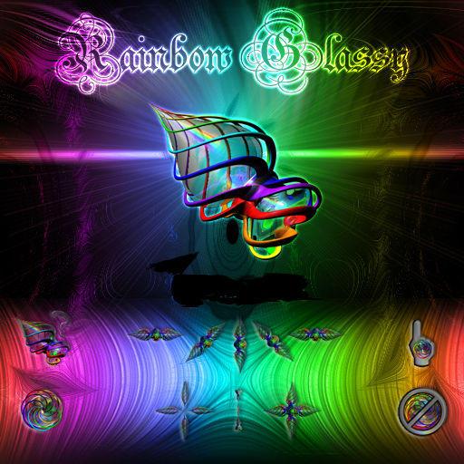 RAINBOW GLASSY CURSOR by juanelloo