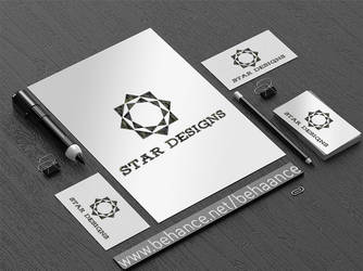 Stationary logo MockUp 2d by deviantdesignerr