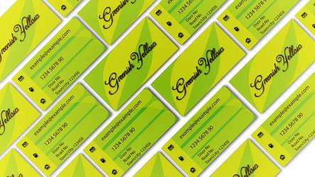 Greenish Yellow Busines card Mockup by deviantdesignerr