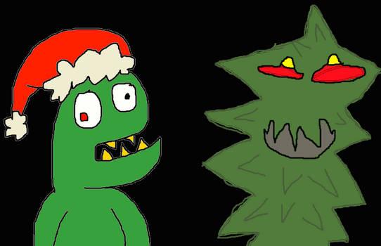 troll king christmas tree