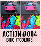 action #004 bright colors