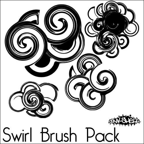 swirl brush pack by inkshell on deviantart