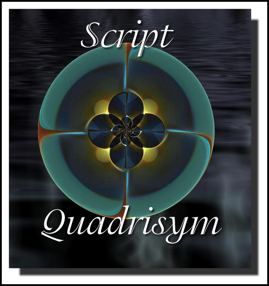 Script Quadrisym by Valerie-Ducom