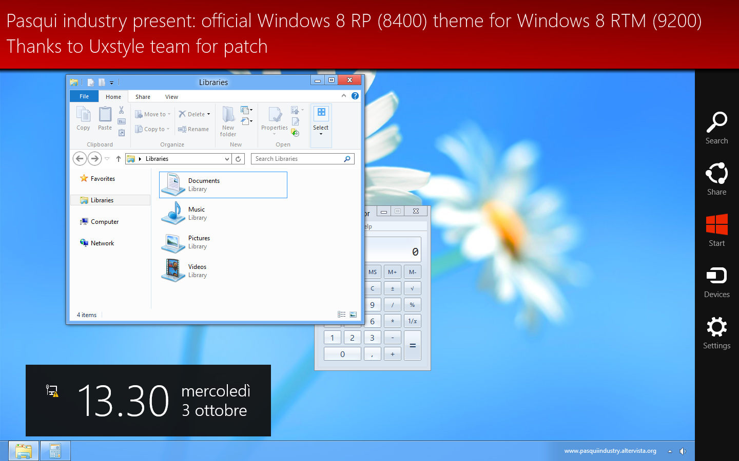AeroRP theme for Windows 8 by Pasquiindustry