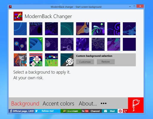 ModernBack changer 2.8 (31/10/2012)