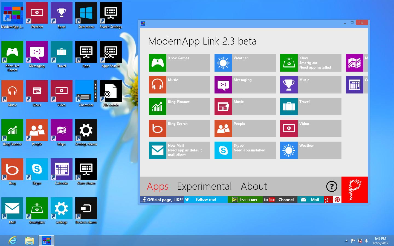 ModernApp Link 2.3 beta by Pasquiindustry