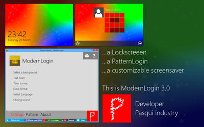 Pasqui industry - ModernLogin 3.0
