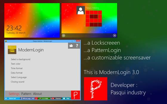 Pasqui industry - ModernLogin 3.0