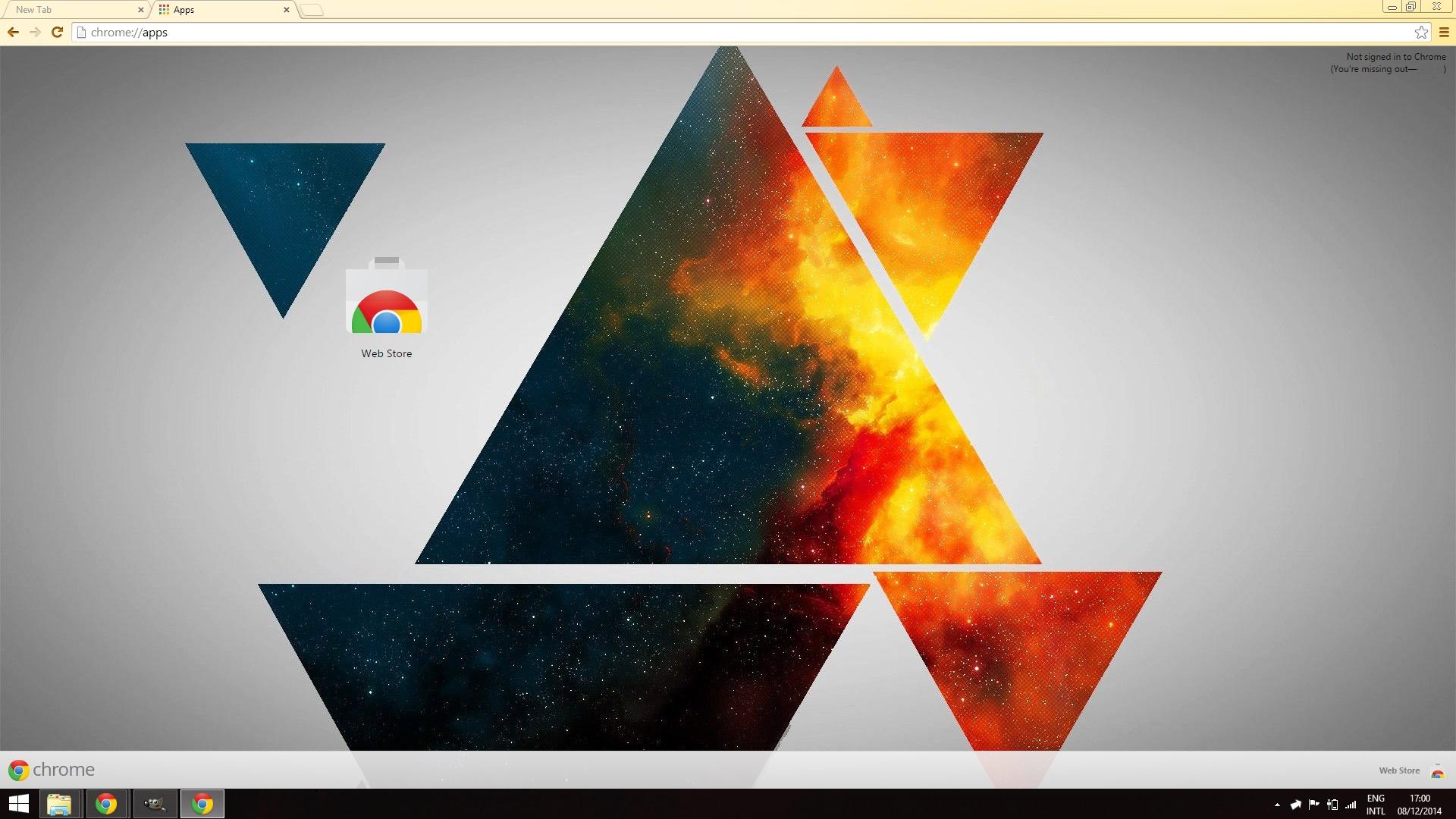 Google chrome themes universe - Shiun06 1 0 Triangle Theme By Eadorimthryth