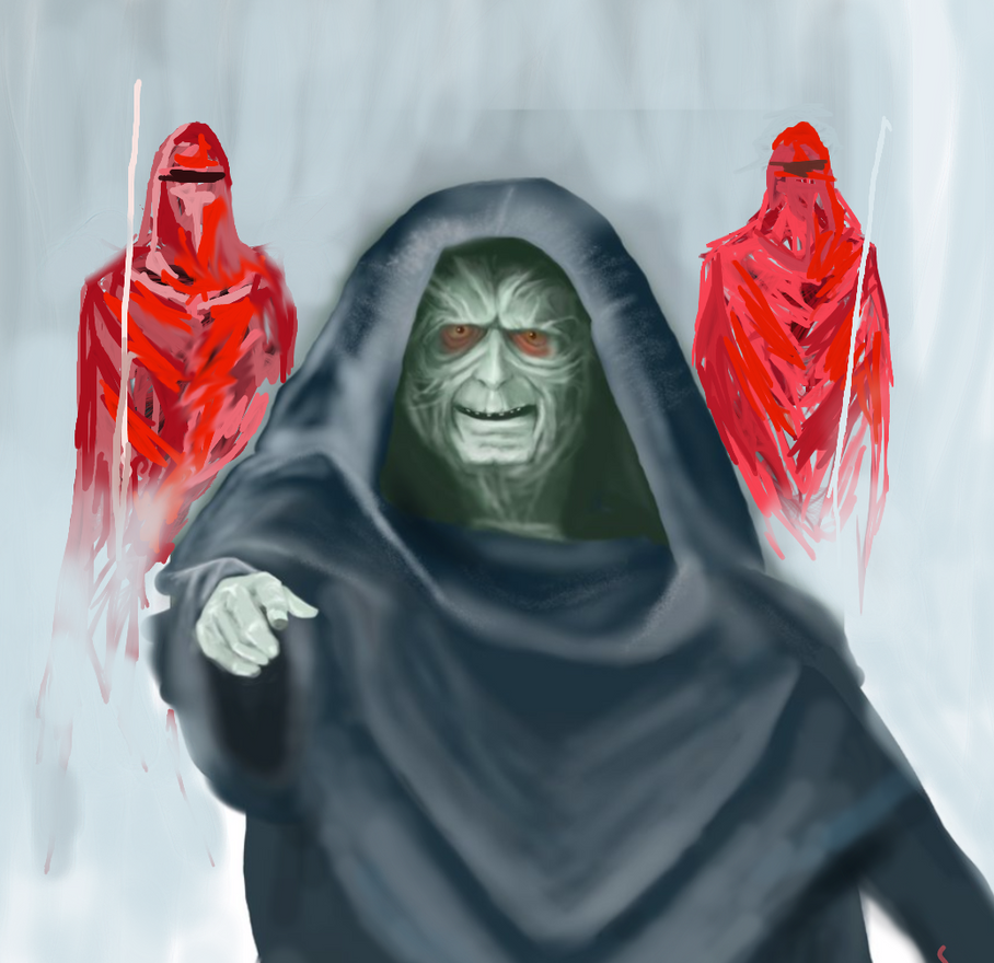 Emperor Palpatine and Guards by philippeL