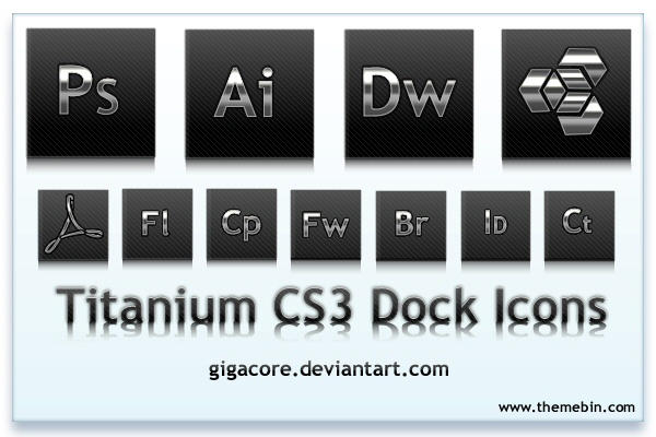 Titanium CS3 Dock Icons by Gigacore
