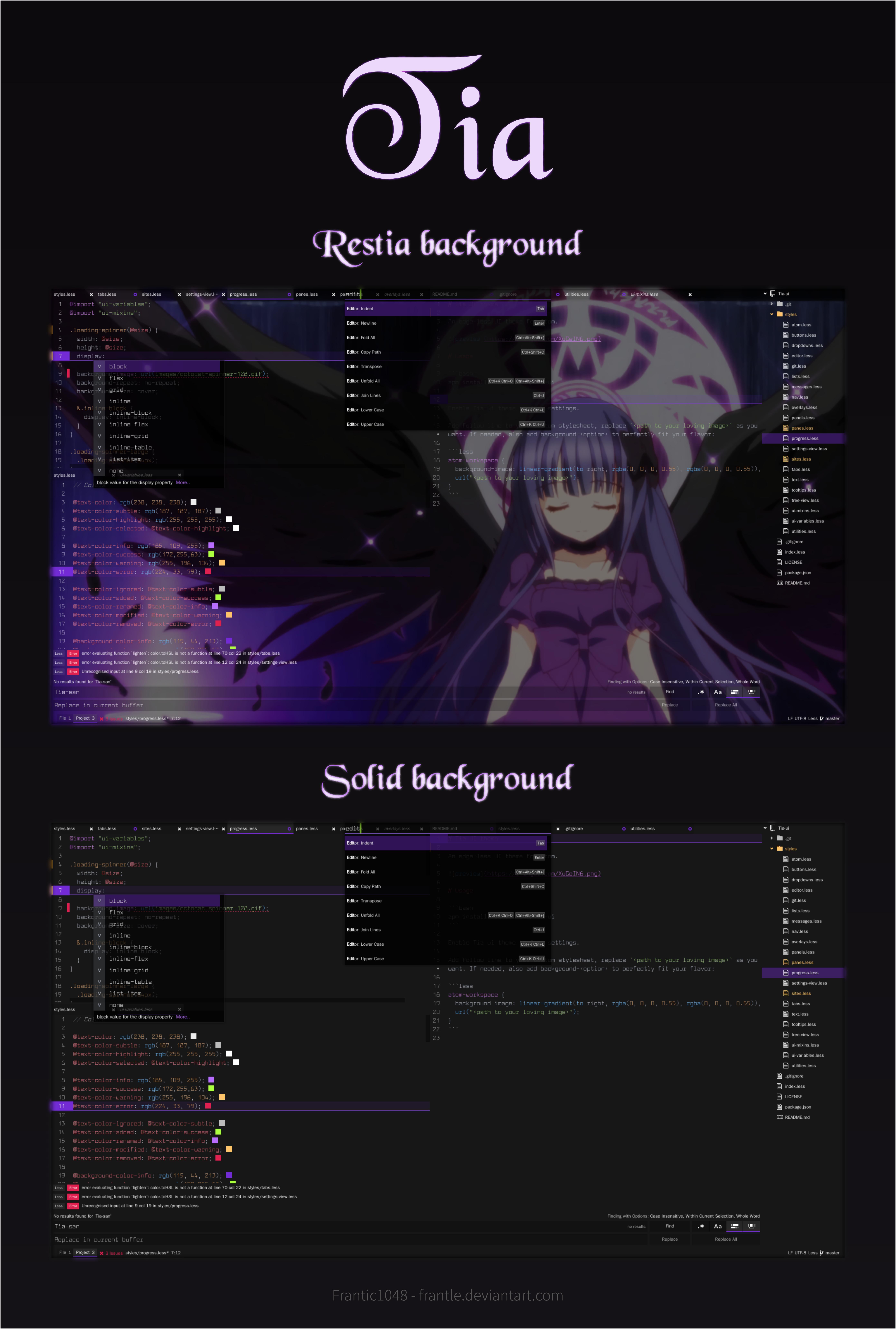 Tia - Atom Editor UI Theme