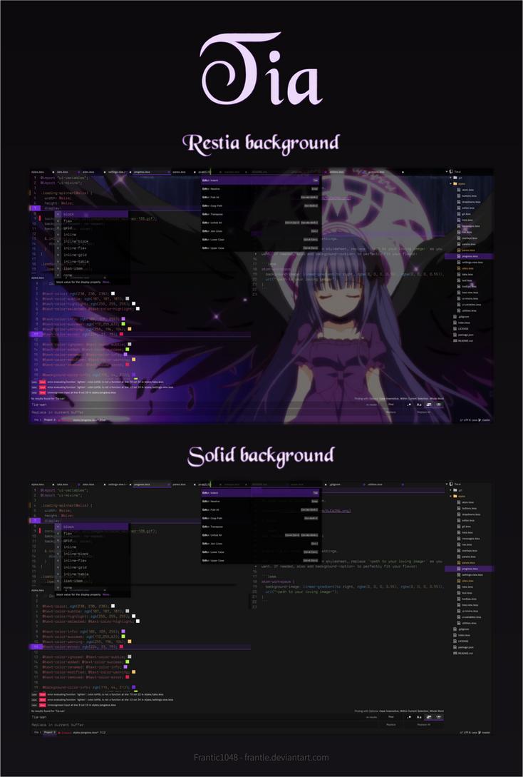 Tia - Atom Editor UI Theme by frantle