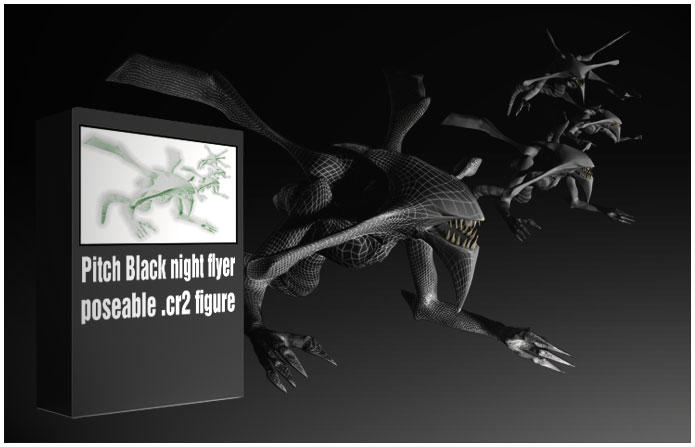 Pitch Black creature for Poser by Stargalaxyblack on ...