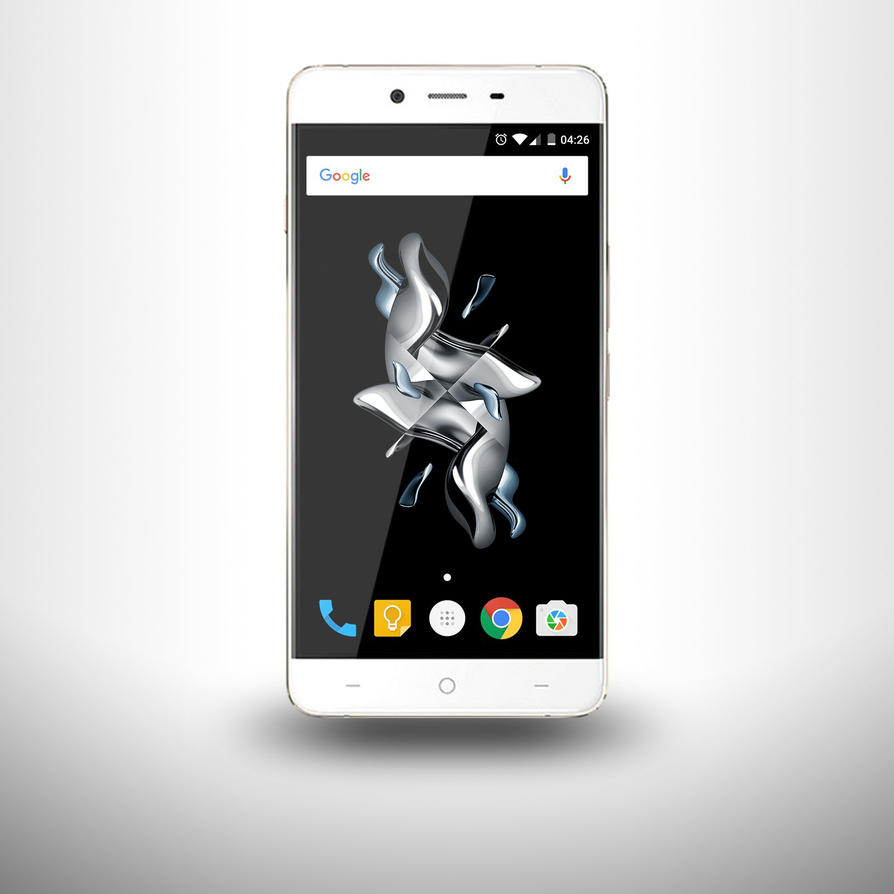 OnePlus X mockup (champagne white phone) by xms9