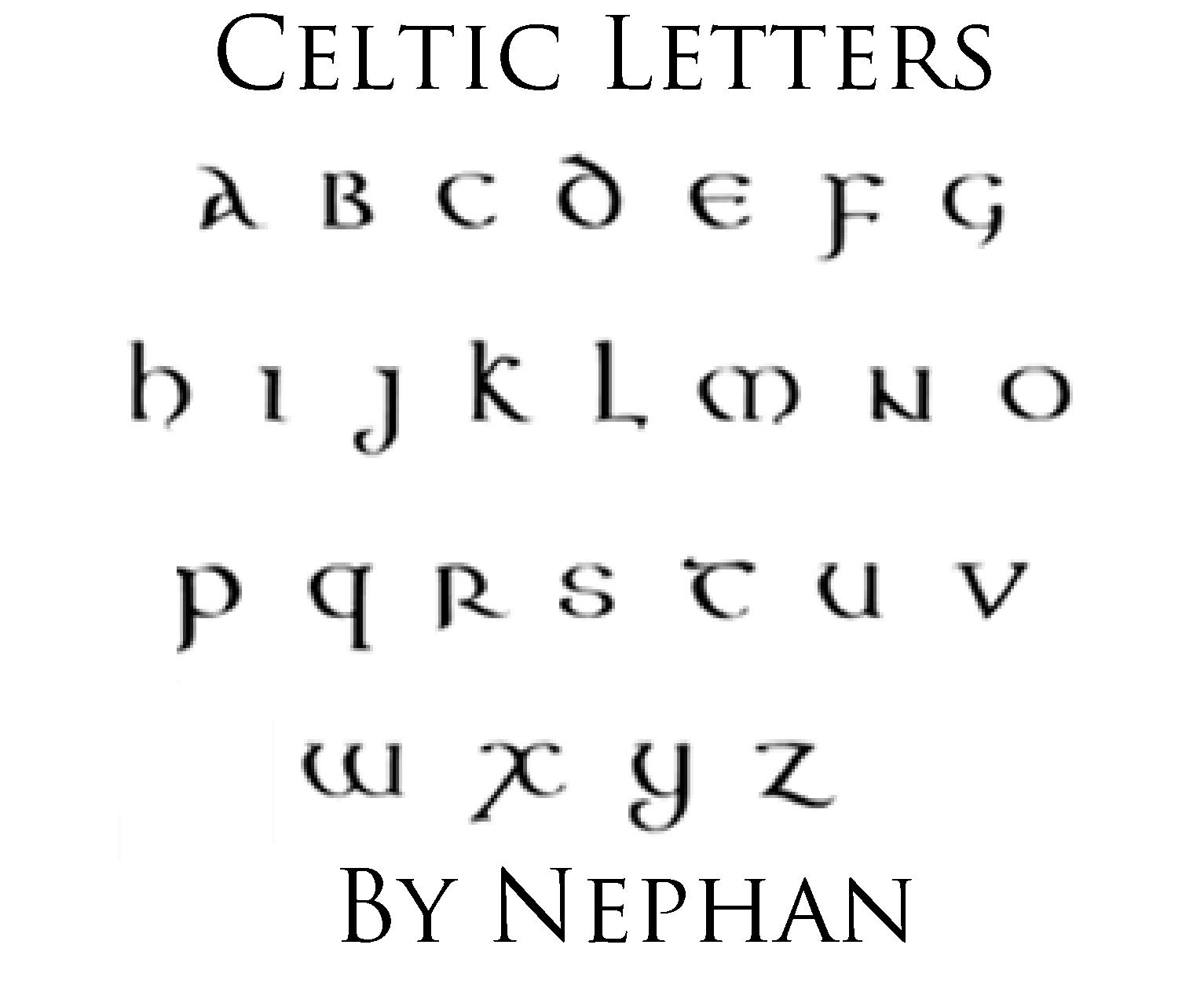 Celtic Letters By Nephan On Deviantart