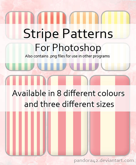 Stripe Patterns for PS by Pandora42