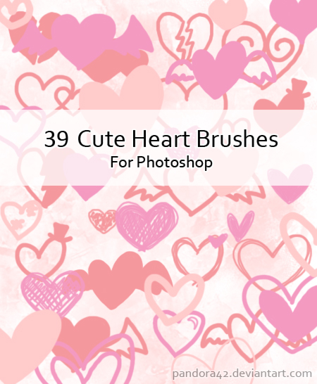 Cute Heart Brushes for PS by Pandora42