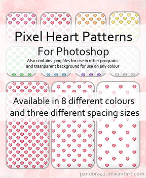 Pixel Heart Patterns for PS