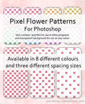 Pixel Flower Patterns for PS