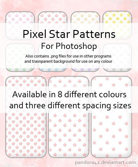 Pixel Star Patterns for PS by Pandora42 on DeviantArt