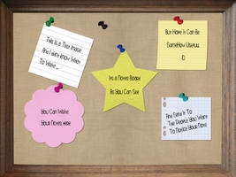 NOTES BOARD PSD by AbedArslan86