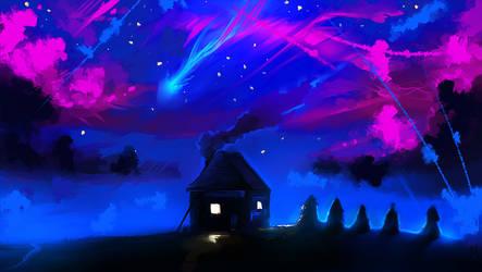 Magic night (animation) by ryky