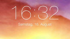iOS 7 lockscreen clock for xwidget (Windows)