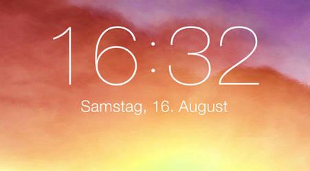 iOS 7 lockscreen clock for xwidget (Windows) by Dave2399